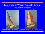 example of weight length effect