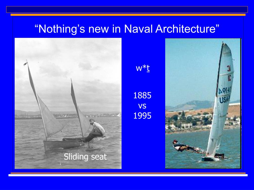 """Nothing's new in Naval Architecture"""