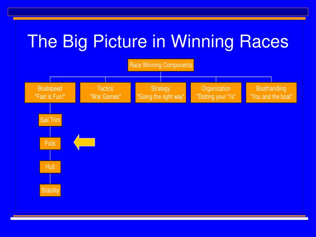 The Big Picture in Winning Races