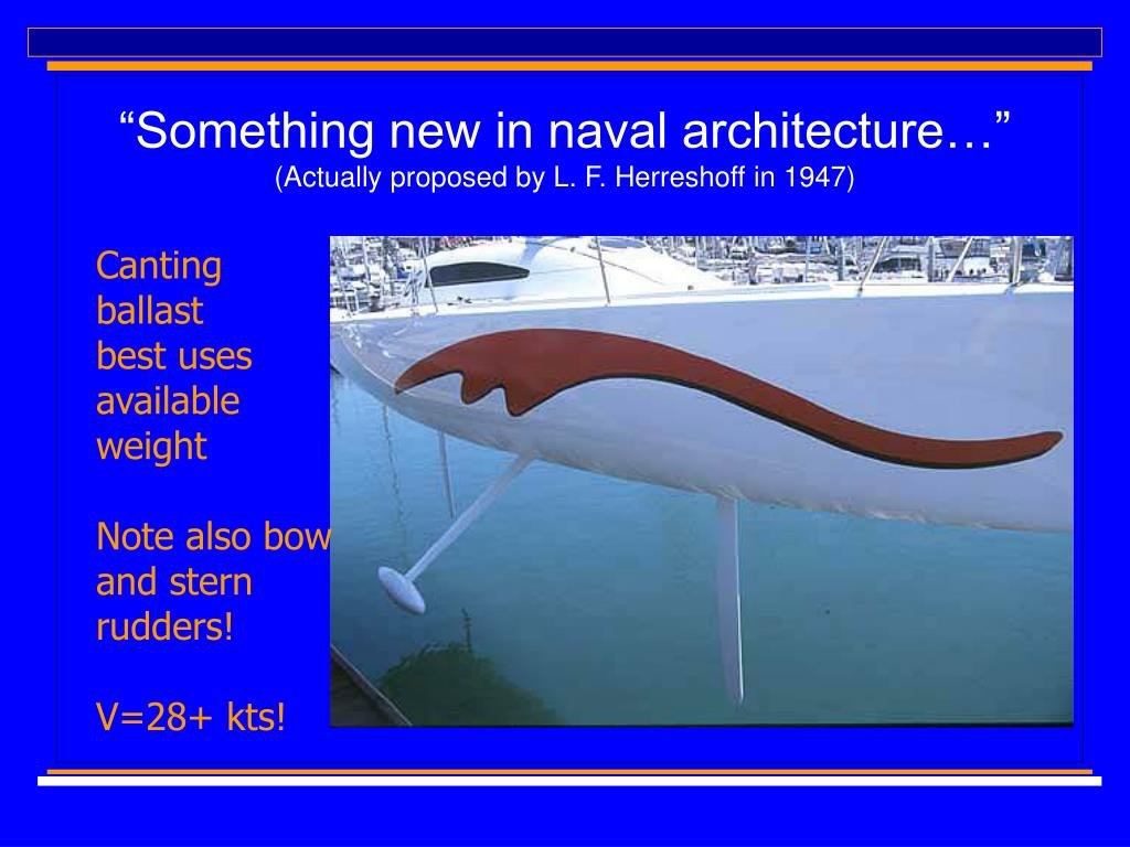 """Something new in naval architecture…"""