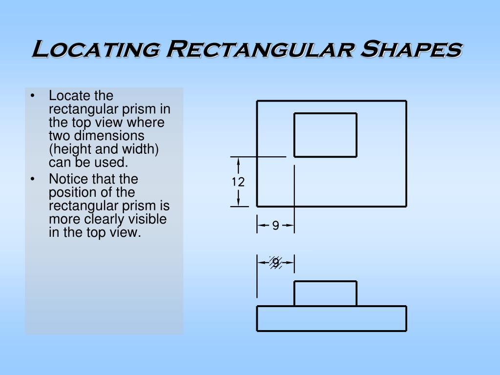 Locating Rectangular Shapes