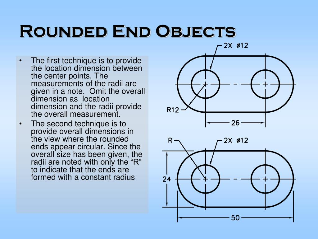 Rounded End Objects