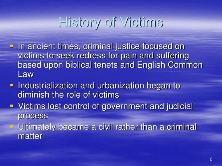 History of victims