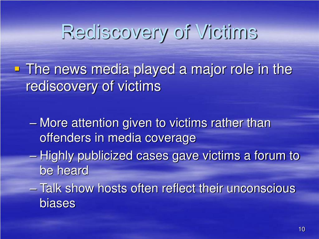 Rediscovery of Victims