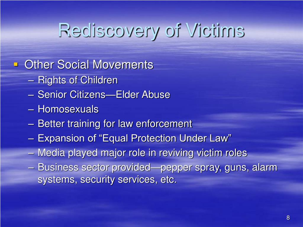the role of victimology in law enforcement Victimology holds the same level of importance as weapons, eye  to this  question, police science institute's highly-recognized, online,.
