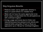 drip irrigation benefits