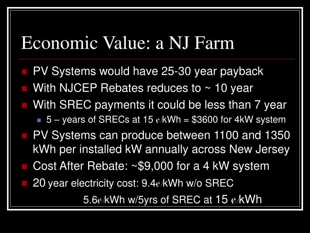 Economic Value: a NJ Farm