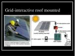 grid interactive roof mounted