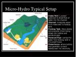 micro hydro typical setup