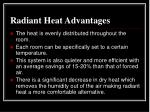 radiant heat advantages