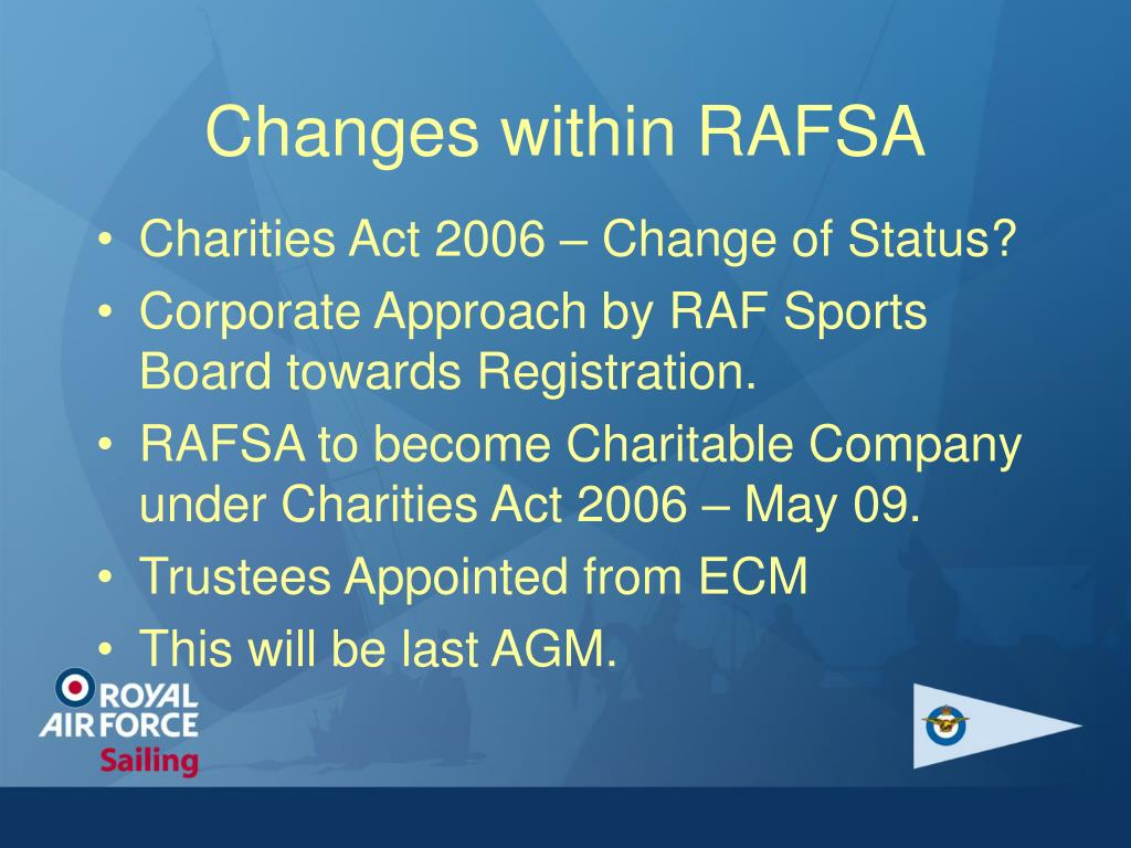 Changes within RAFSA