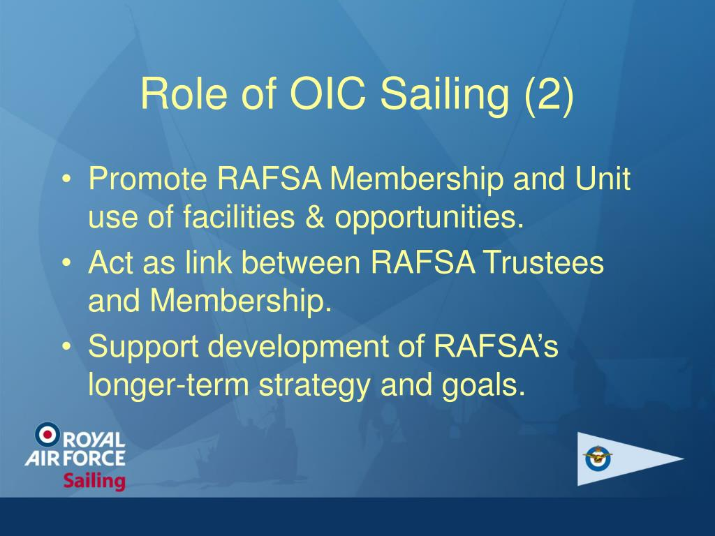 Role of OIC Sailing (2)