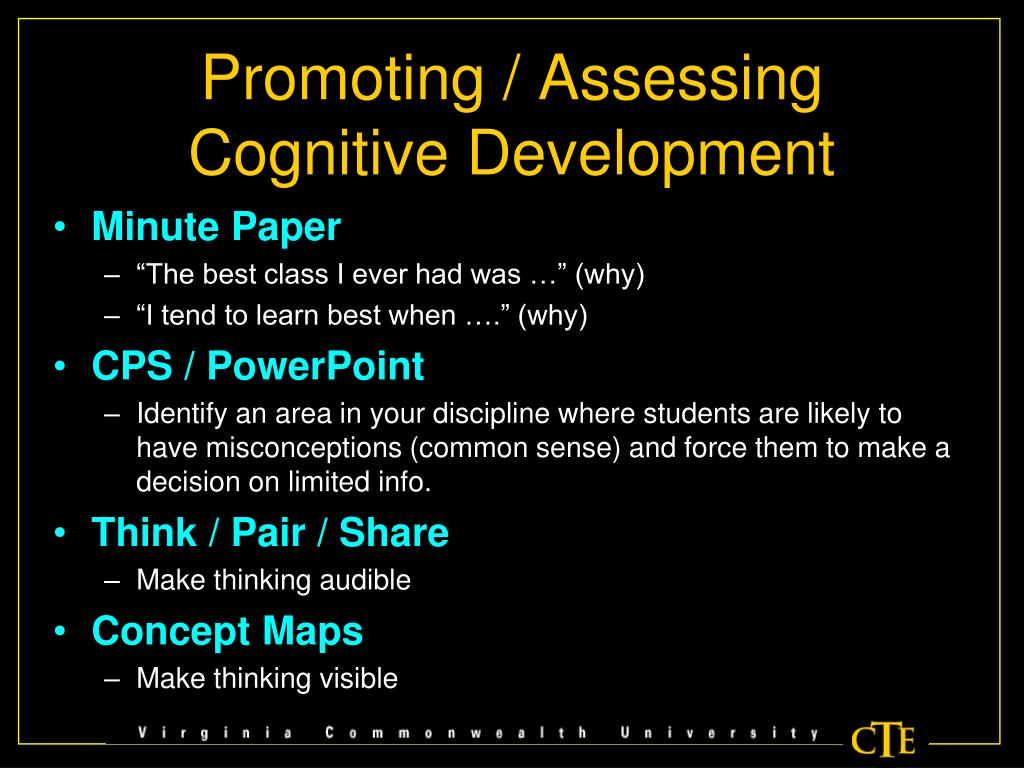 Promoting / Assessing Cognitive Development