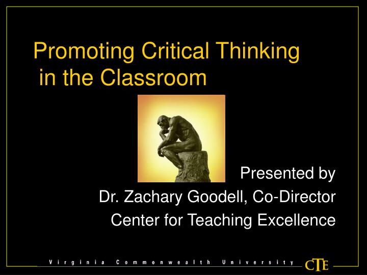 Promoting Critical Thinking
