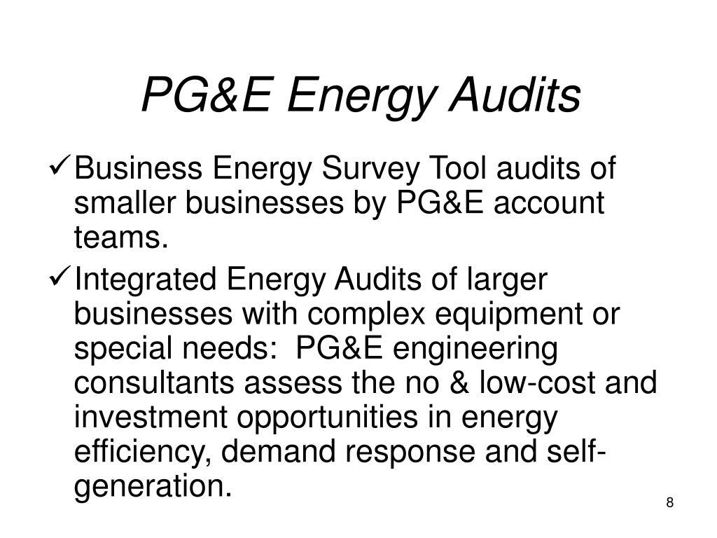 PG&E Energy Audits