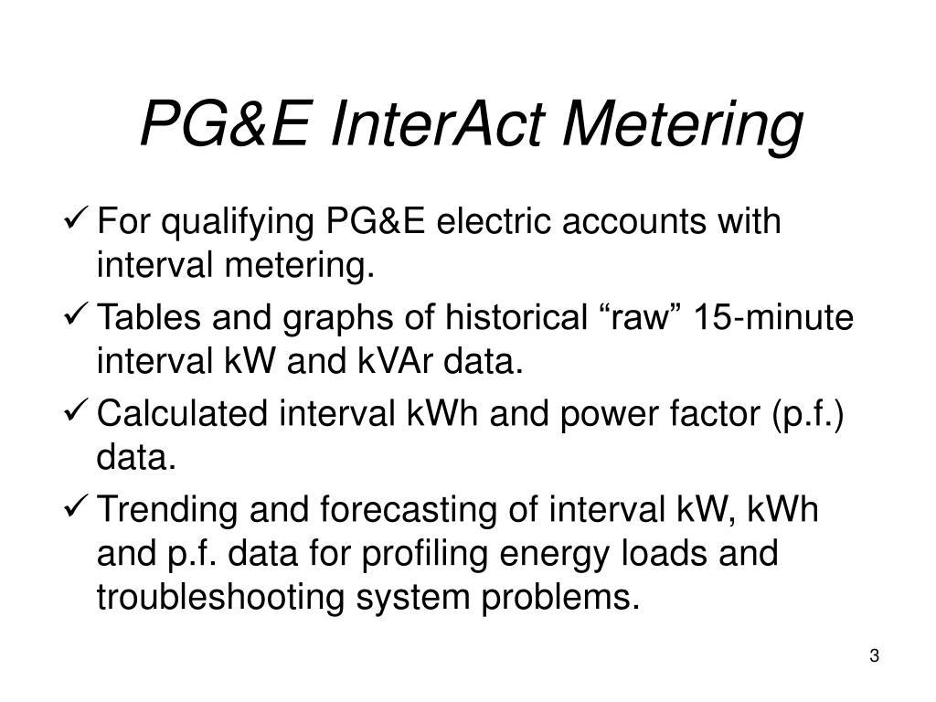 PG&E InterAct Metering