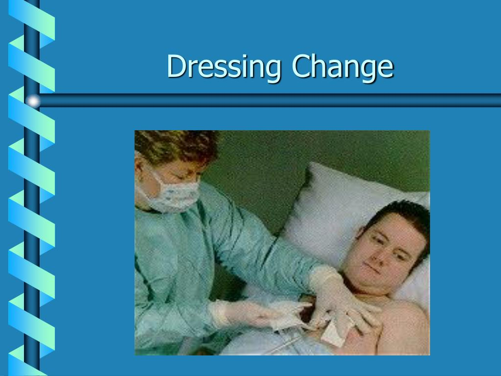Ppt chest tubes powerpoint presentation id 259176 for Photo dressing change