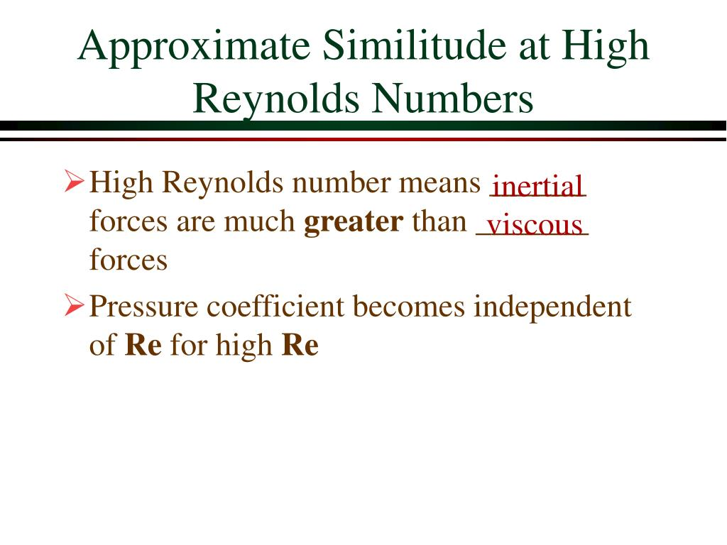 Approximate Similitude at High Reynolds Numbers