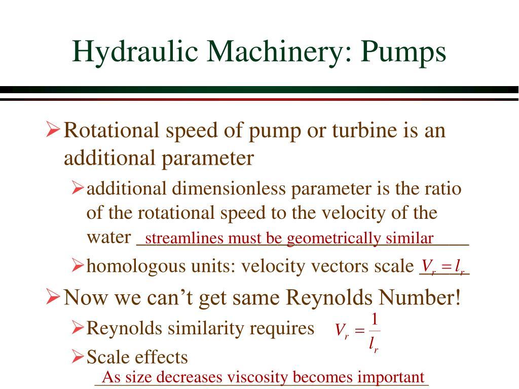 Hydraulic Machinery: Pumps