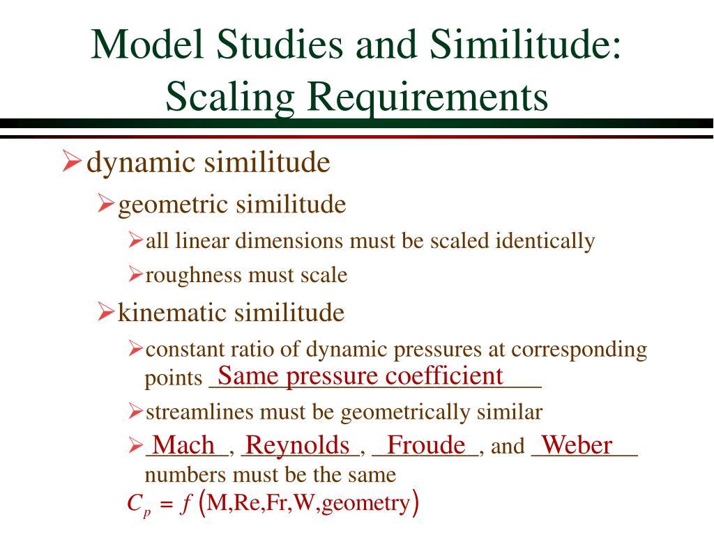 Model Studies and Similitude: