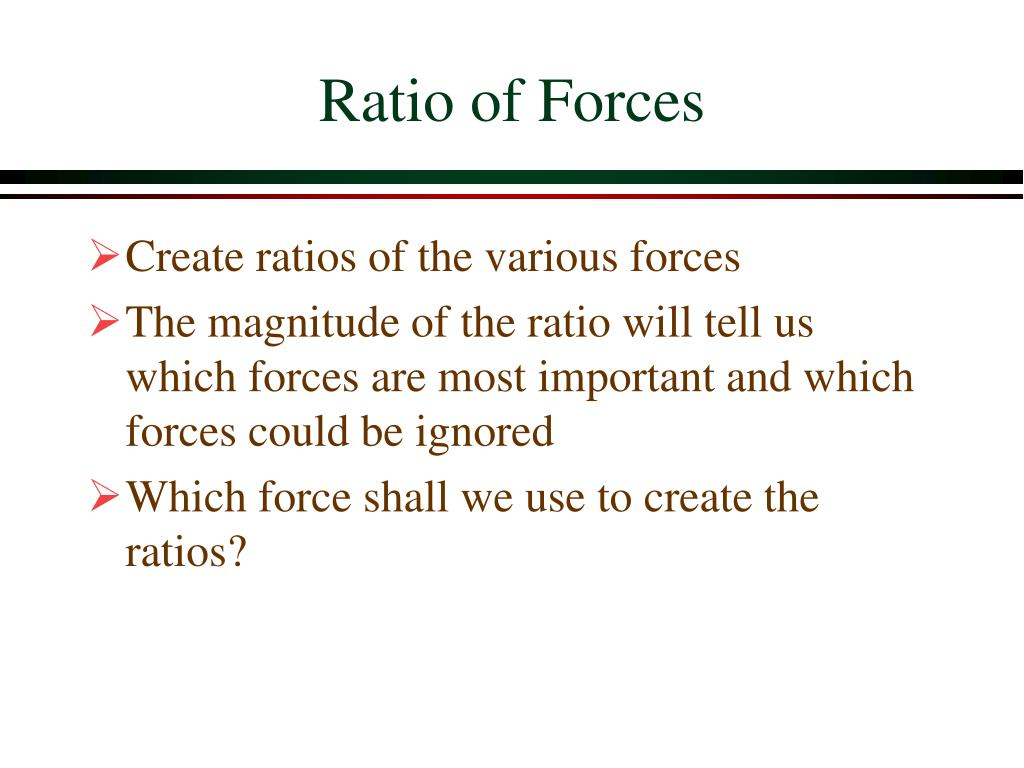 Ratio of Forces