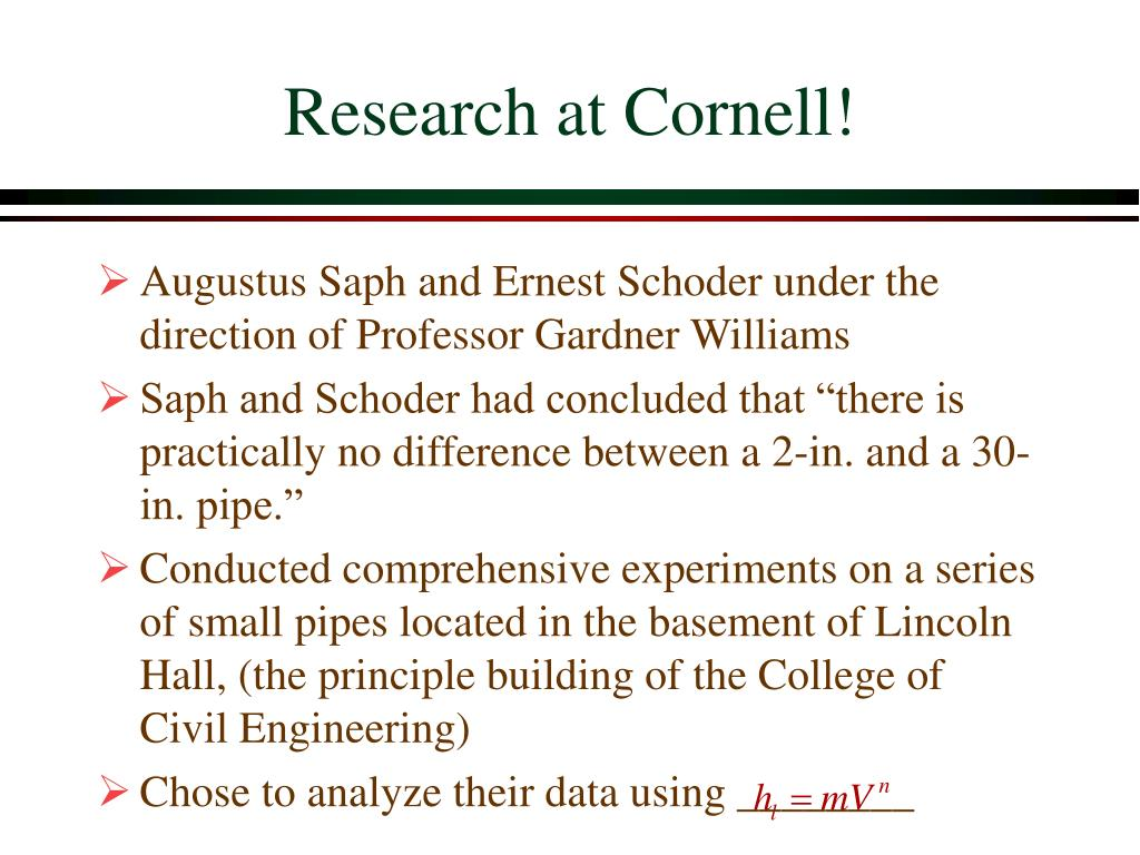 Research at Cornell!