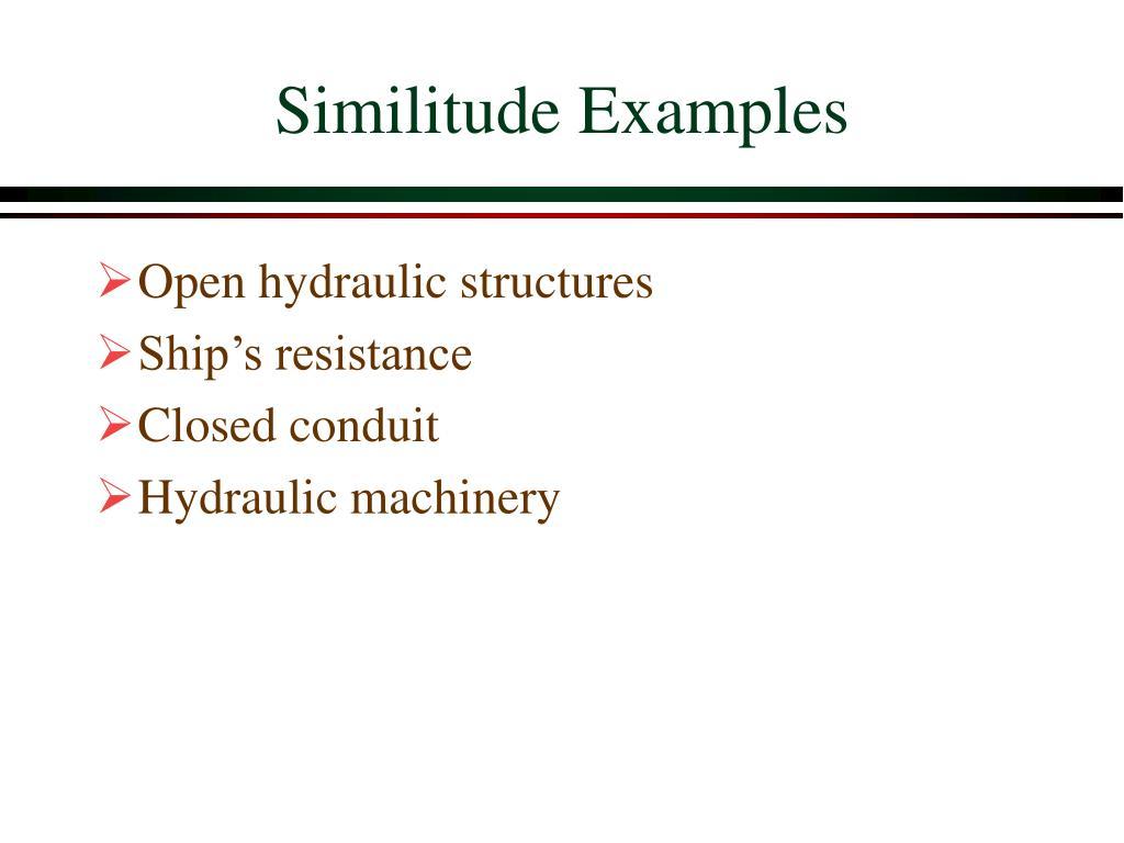 Similitude Examples