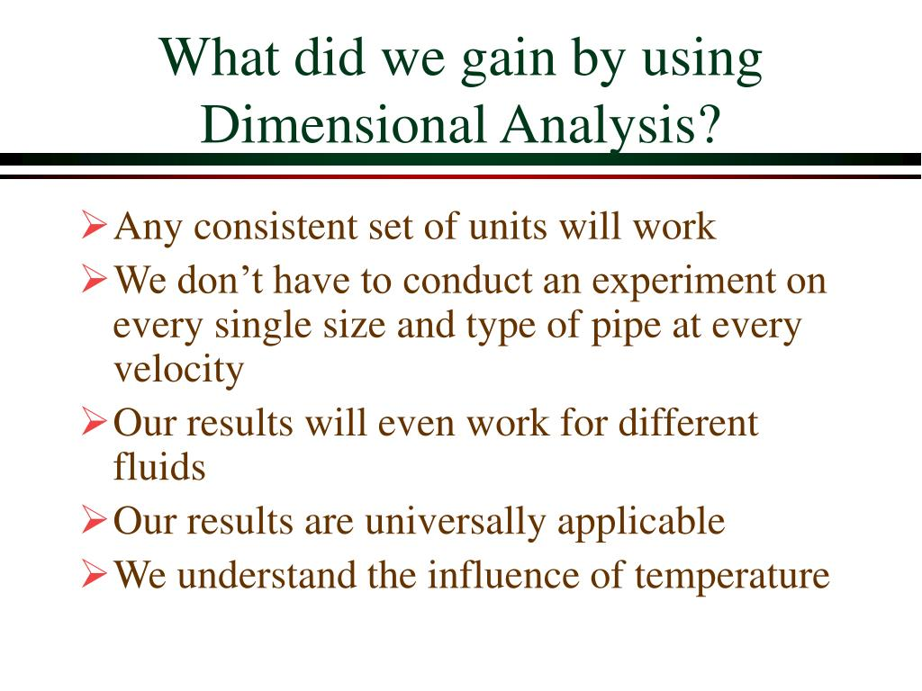 What did we gain by using Dimensional Analysis?