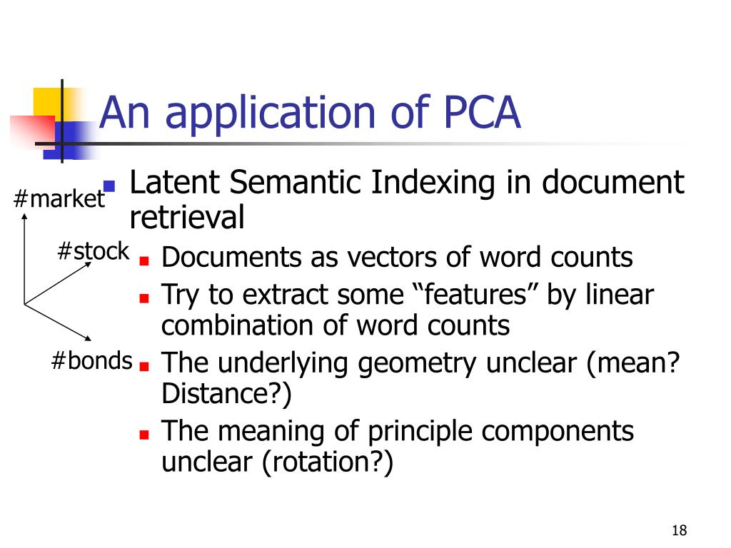 An application of PCA