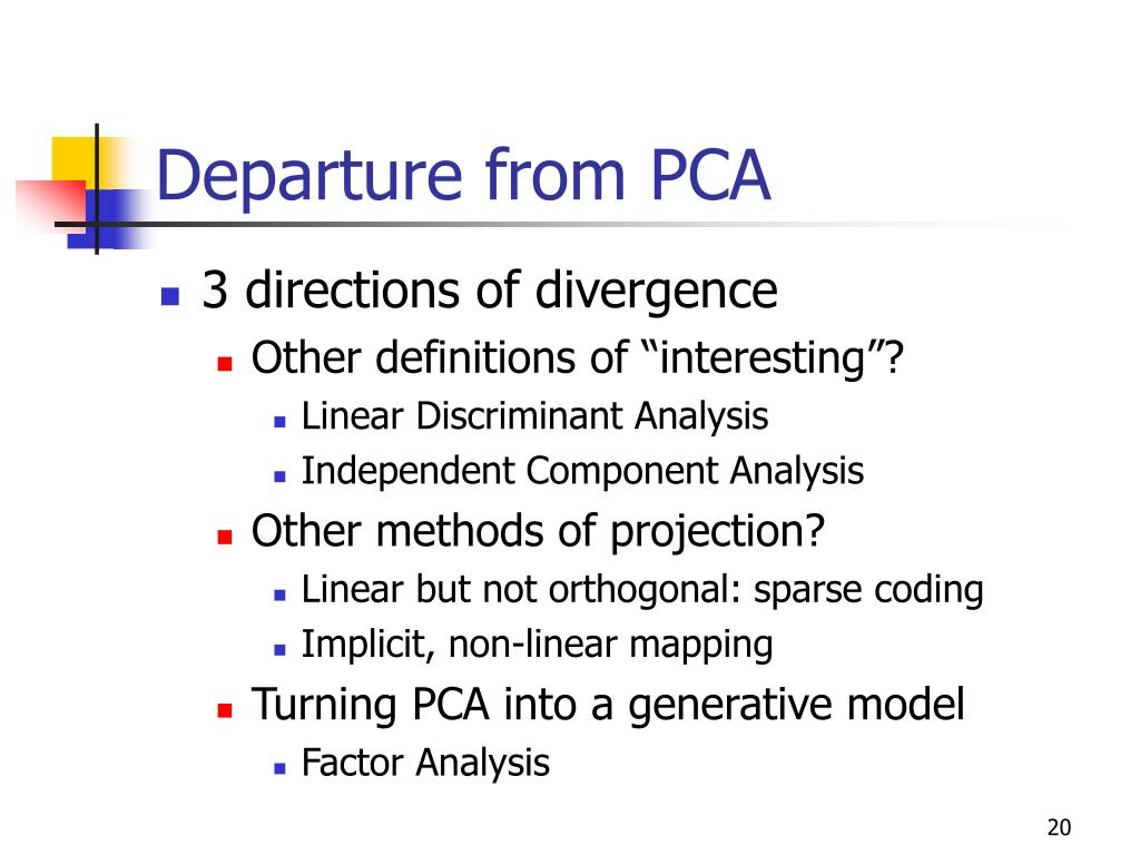 Departure from PCA