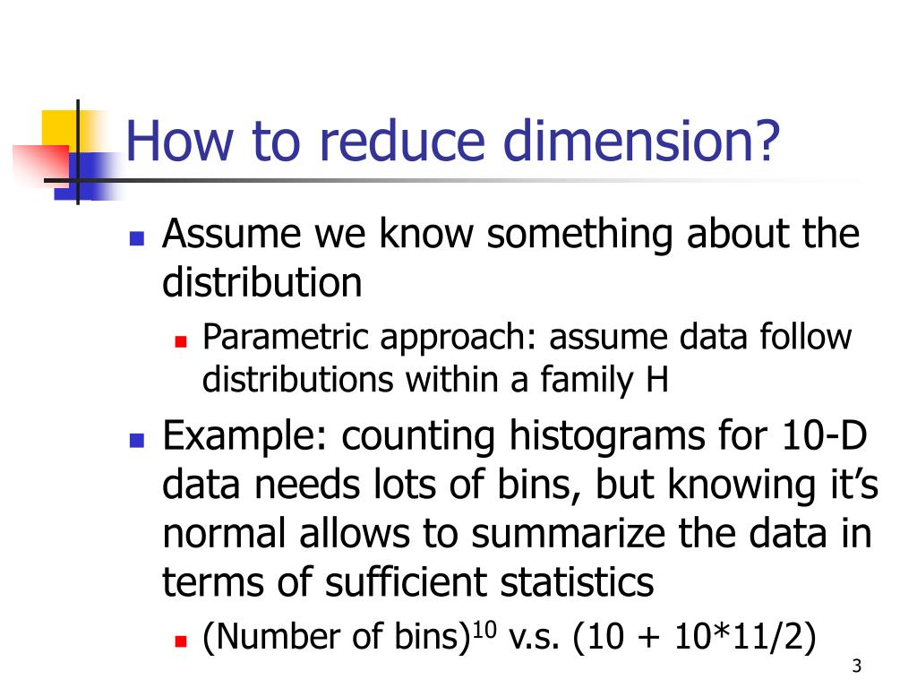 How to reduce dimension?