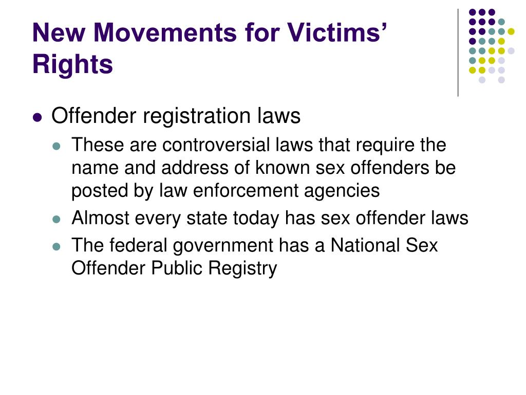 New Movements for Victims' Rights