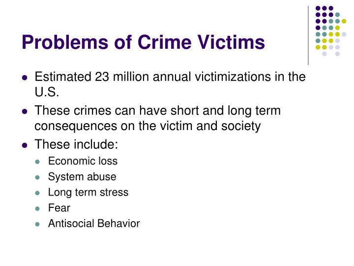Problems of crime victims