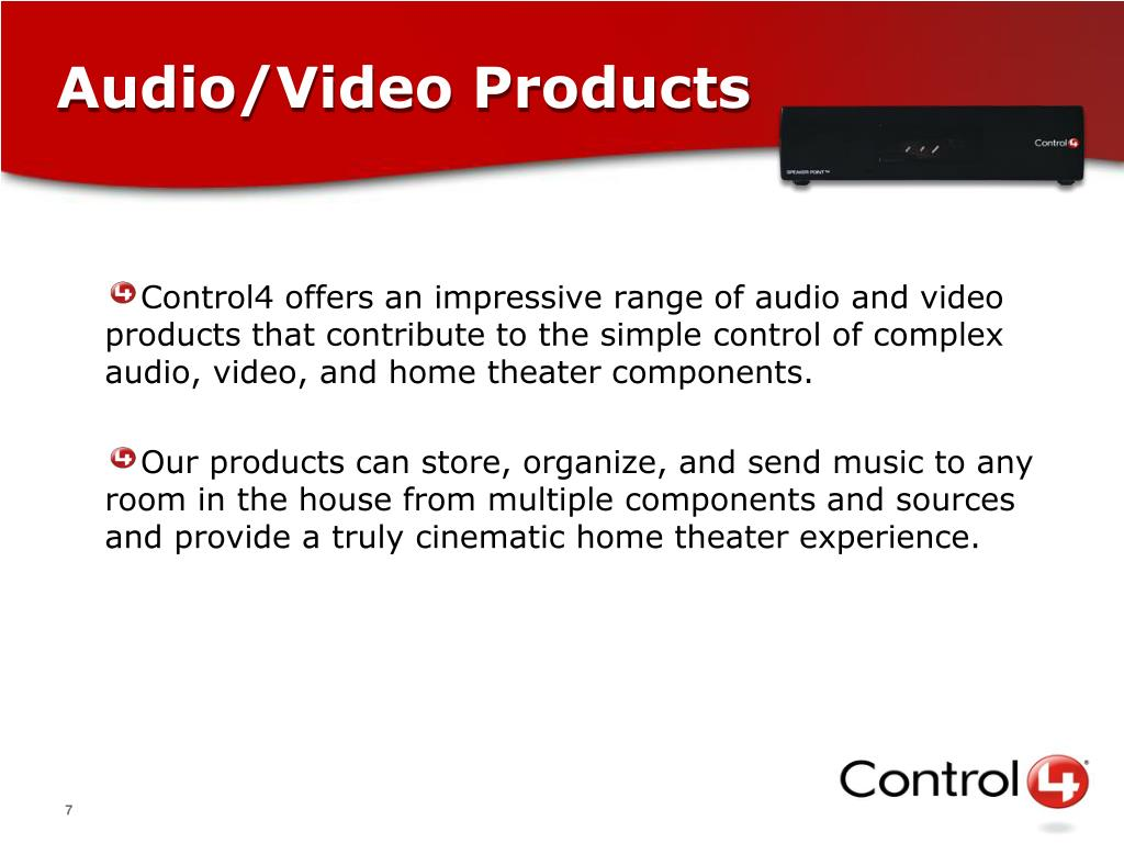 Audio/Video Products