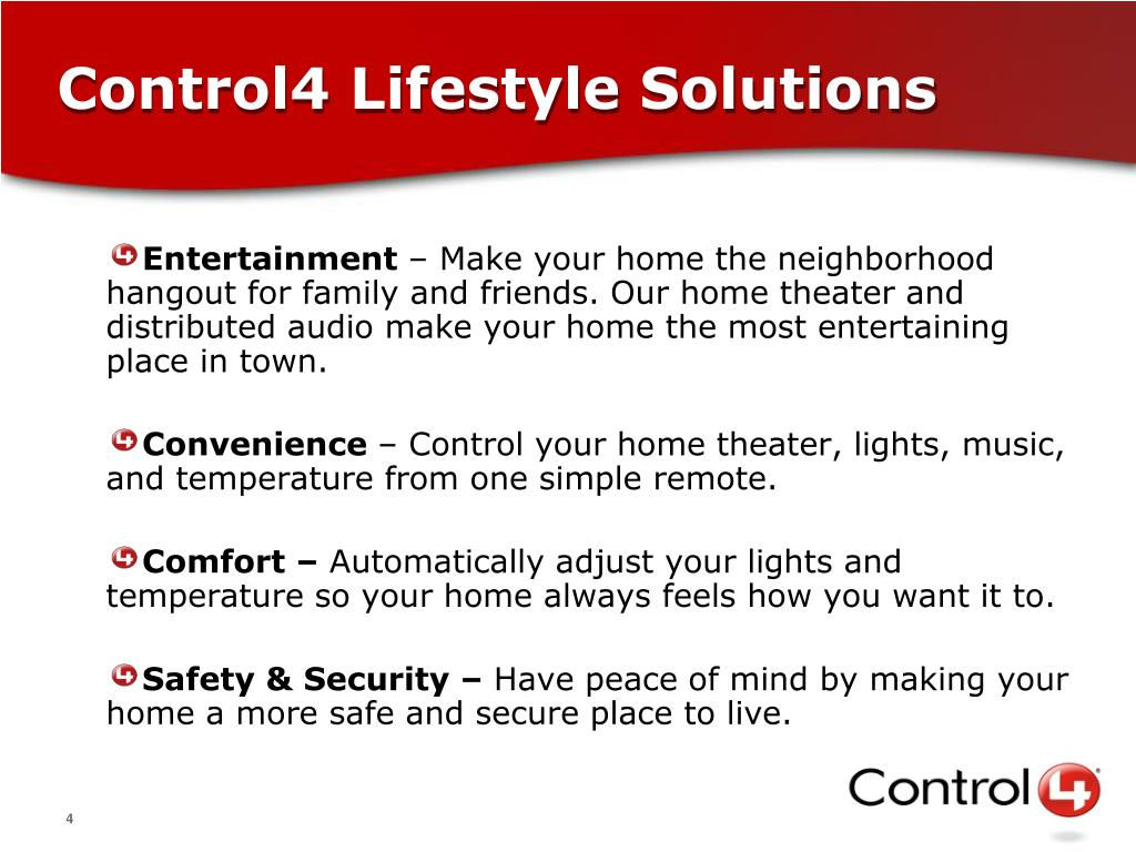 Control4 Lifestyle Solutions