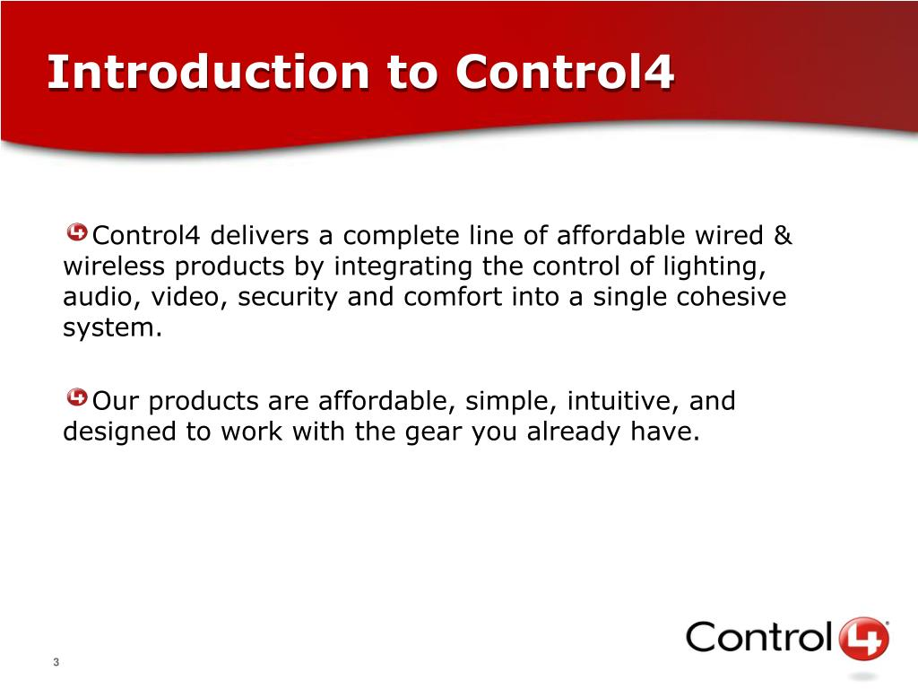 Introduction to Control4