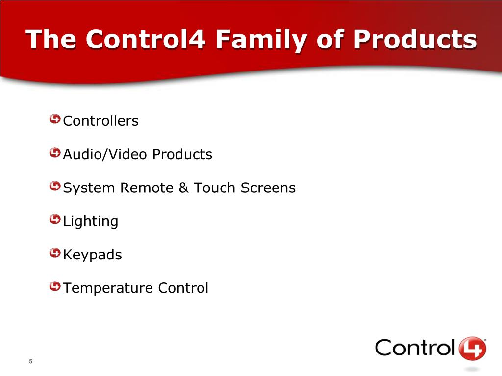 The Control4 Family of Products