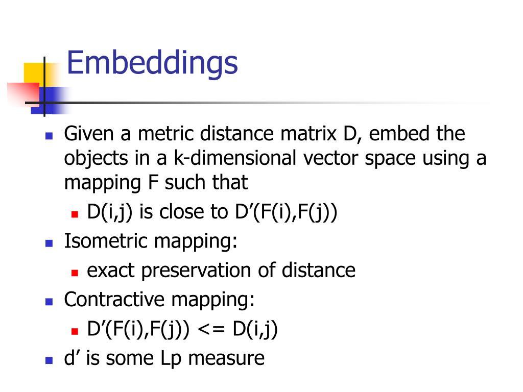 Embeddings