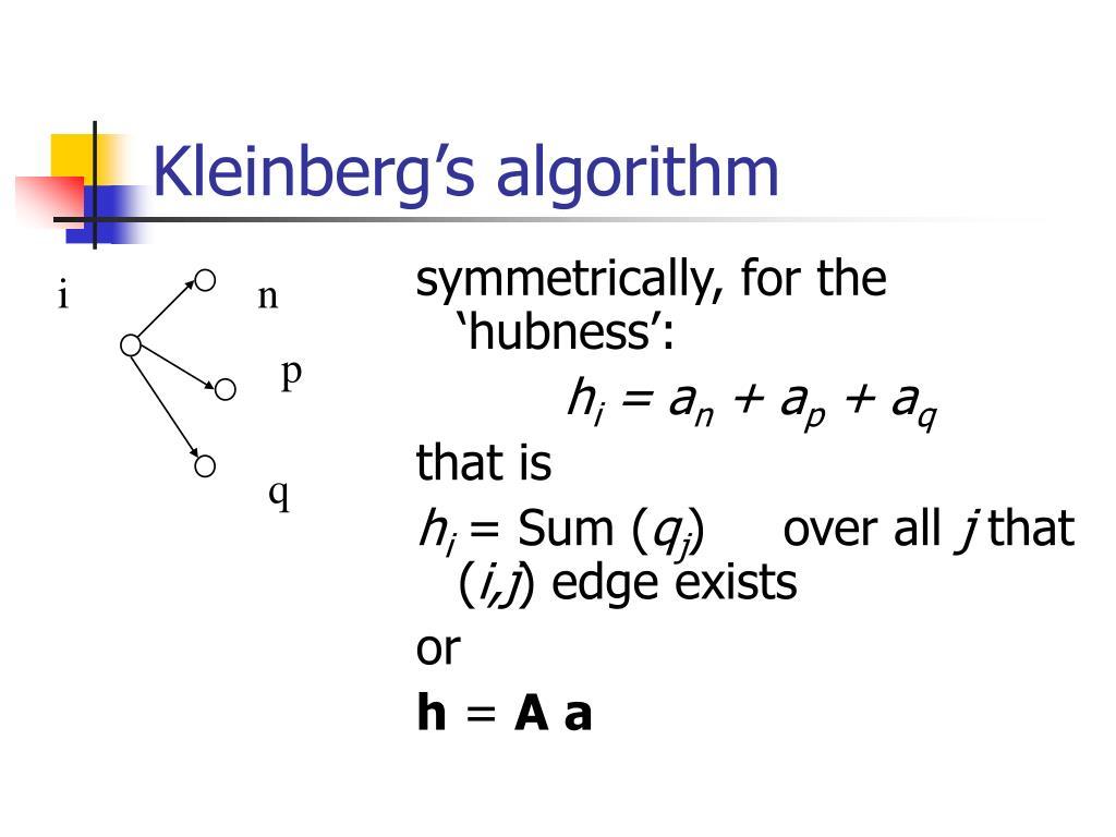 Kleinberg's algorithm