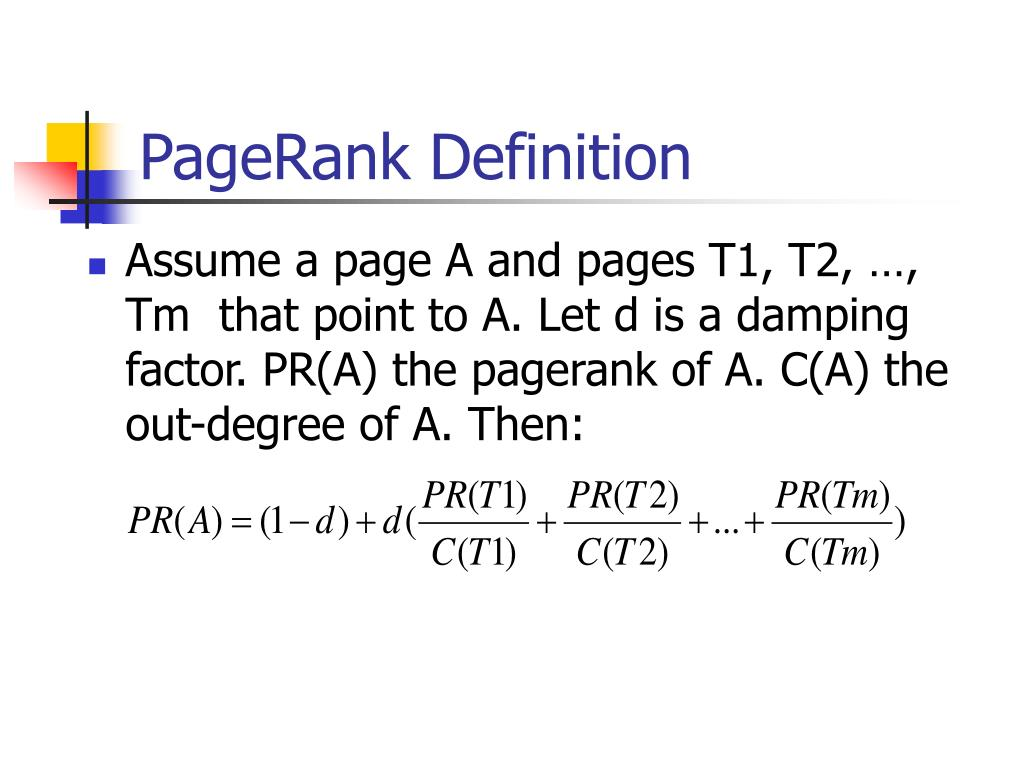 PageRank Definition