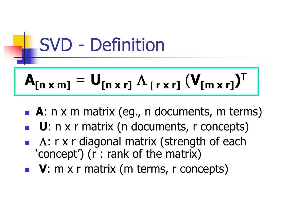SVD - Definition