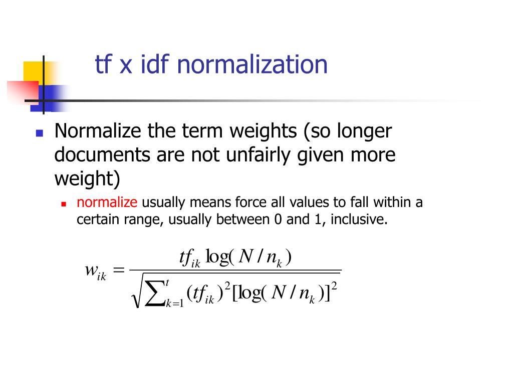tf x idf normalization