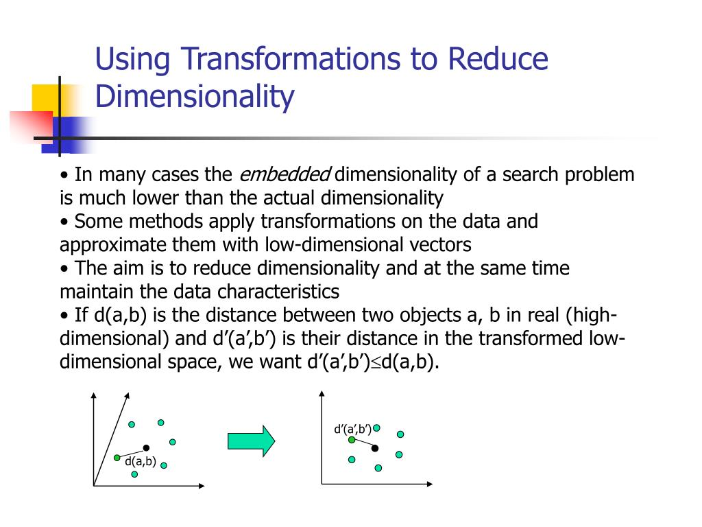 Using Transformations to Reduce Dimensionality