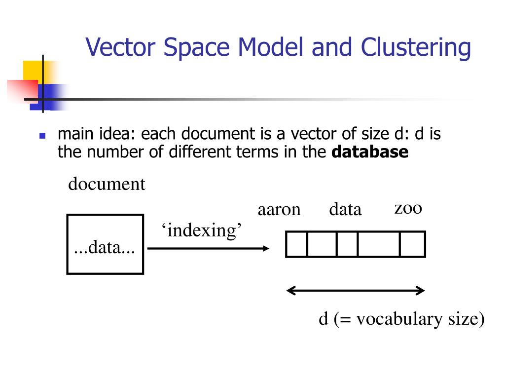 Vector Space Model and Clustering