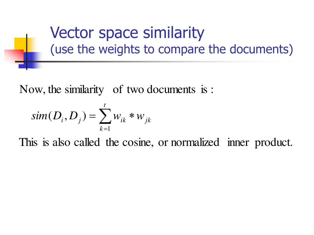 Vector space similarity