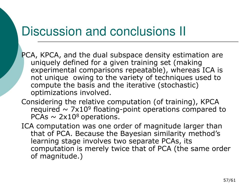 Discussion and conclusions II