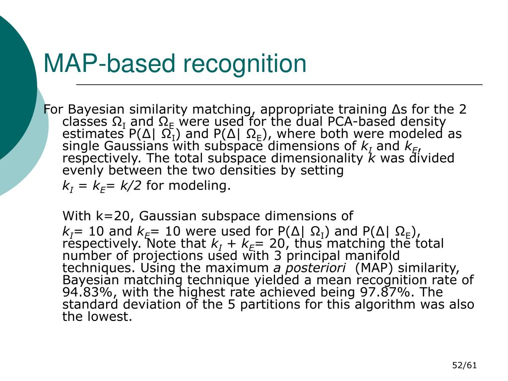 MAP-based recognition