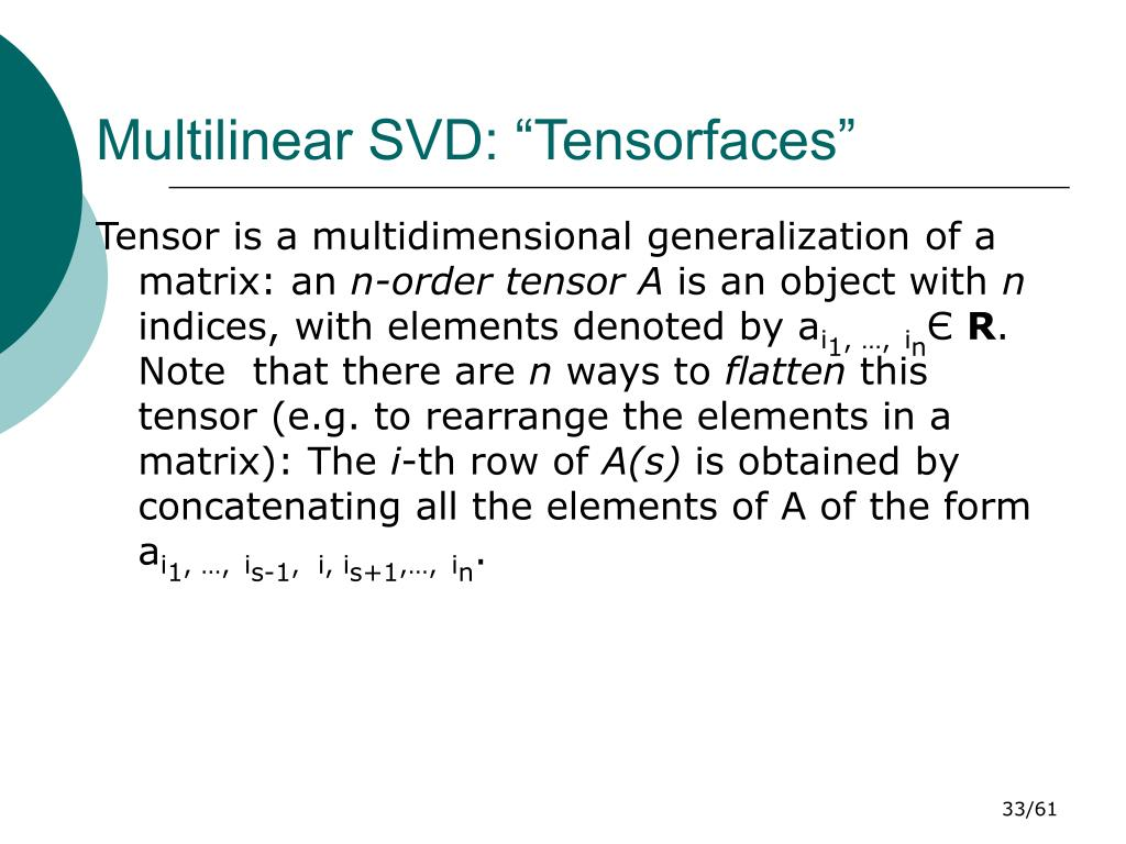 """Multilinear SVD: """"Tensorfaces"""""""