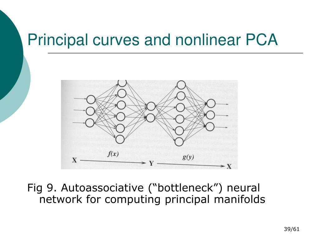 Principal curves and nonlinear PCA