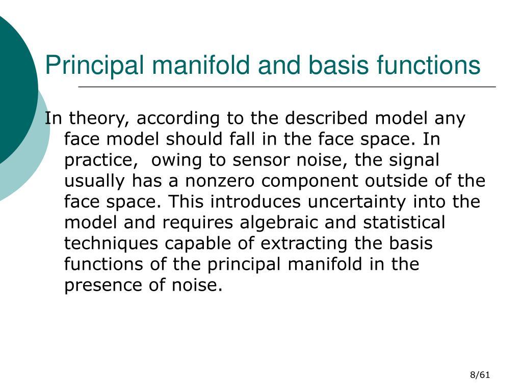 Principal manifold and basis functions